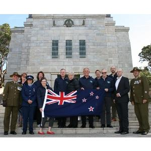 "Participating in National War Memorial ""lowering of the flag ceremony"""
