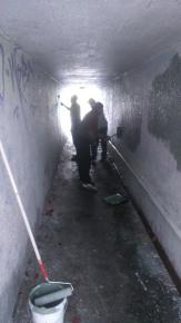 SH2 tunnel paint out